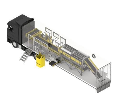 Мобильная линия для сортировки мусора (ТБО)