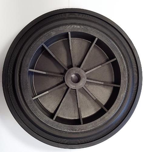 Wheels of 250 or 300 mm