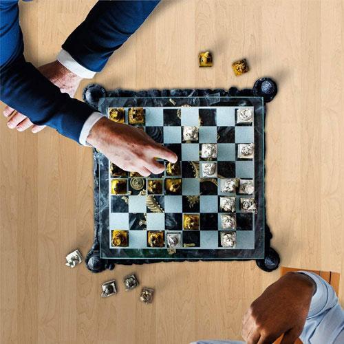 Resin Dragon King Chess board game Set