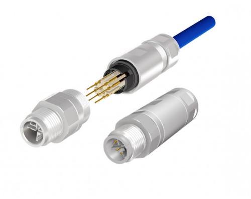 Industrial Ethernet Steckverbinder M12x1, Crimpanschluss