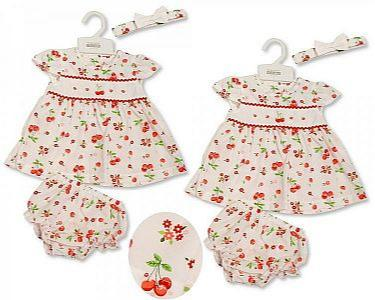 Baby Dress - Flowers and Cherries