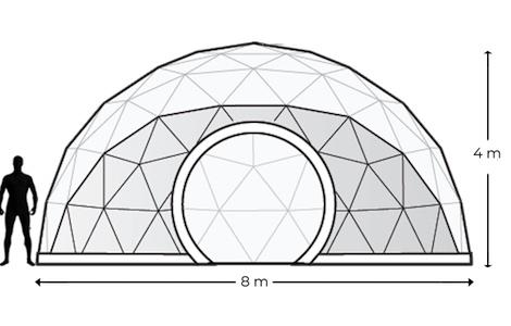 Alquiler Domos Geodésicos Geodomes  G50