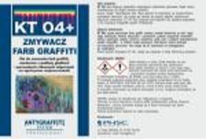 KT 04+ - Zmywacz farb graffiti