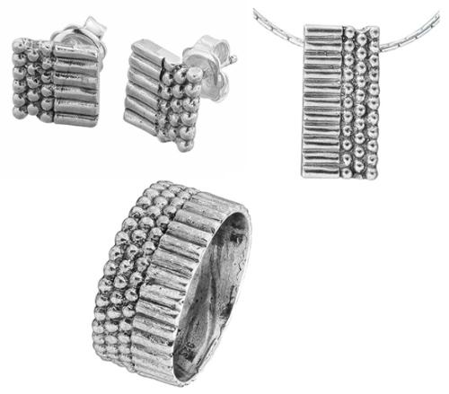 Sterling Silver 925 handmade Silver set  Wholesale Israel