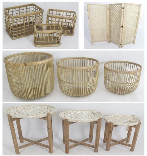 Bamboo Rattan Woven Screen Furnishing Item