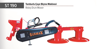 ST 190 ROTARY DRUM MOWER