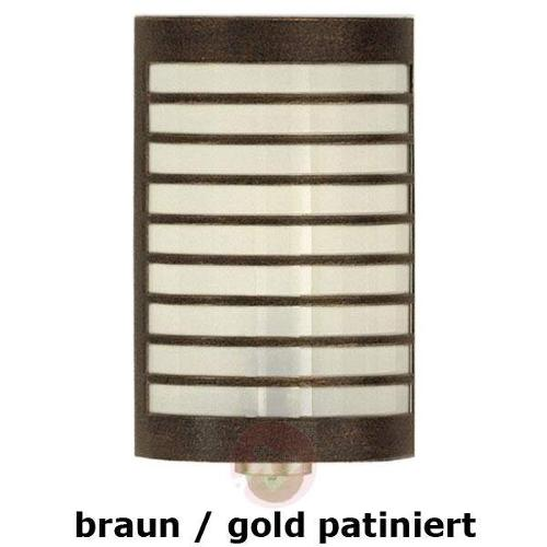 Wall lamp TERU with motion detector brown/gold pa