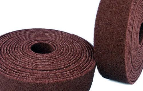 Abrasive fleece rolls