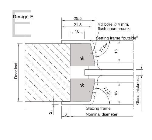 Aluminium Porthole Design E