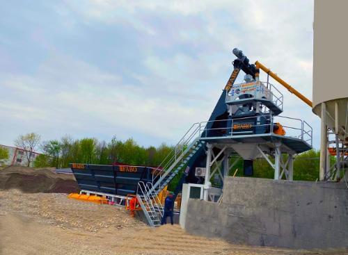 Centrale a beton compact de 60 m3/h.