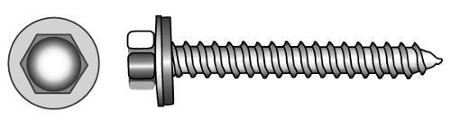 Facade building screws type A and BZ (Ø 16 mm)