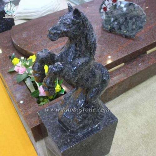 Natural Stone Granite Animal Statue Horse Carving