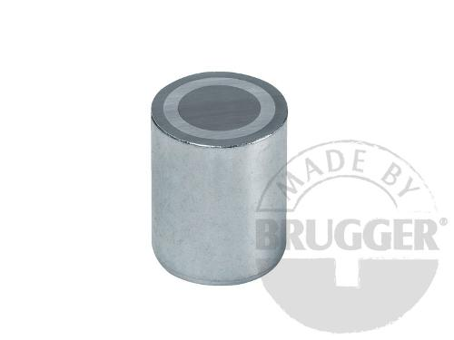 Bar magnet AlNiCo, steel body with fitting tolerance h6