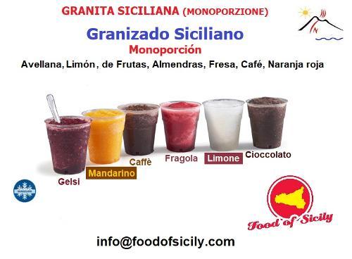 Granite Siciliane Artigianali. Prodotto surgelato.