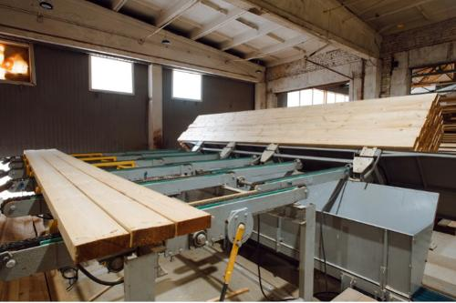 Four-sided planer mechanization