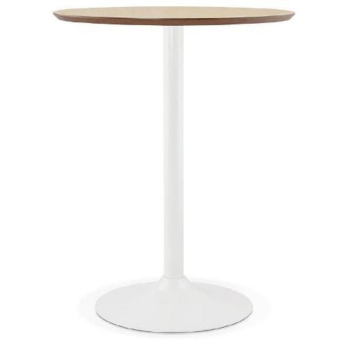 Table haute mange-debout LAURA (Ø 90 cm) (chêne)