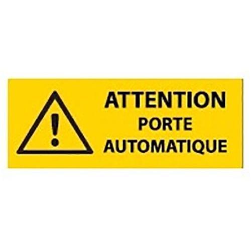 Panneau danger attention porte automatique 200 x 80 mm