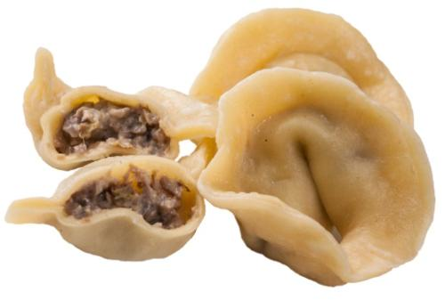 Ravioli with porcini mushrooms and snail