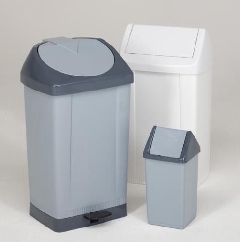 Papeleiras e caixotes para resíduos