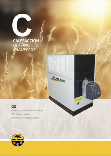 Calefactor industrial de montaje mural - GS