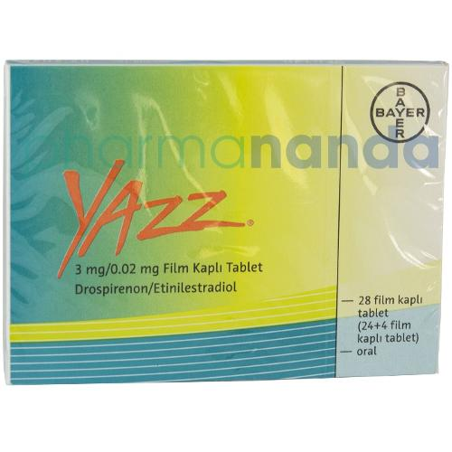 Yazz 3 mg / 0.02 mg 24+4 tabs