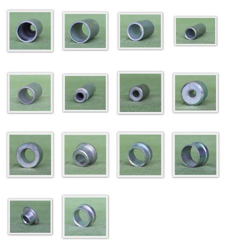 CNC Torna ile üretilmiş ürünler