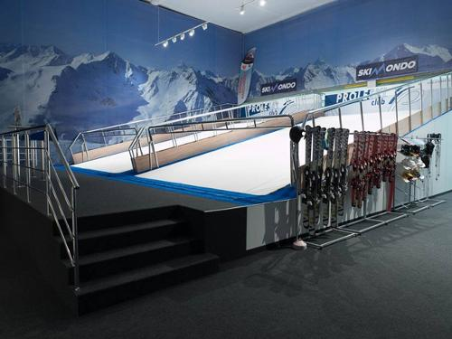 Indoor ski simulators