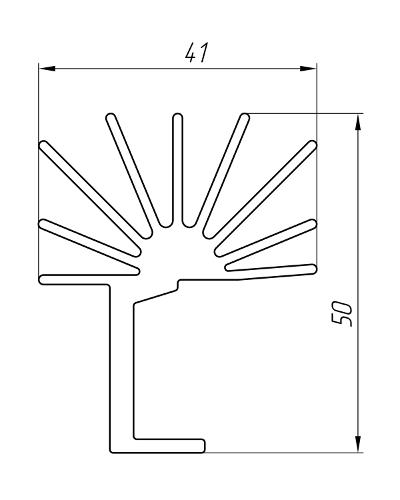 Aluminum Profile For Cooling Radiators Ат-2636