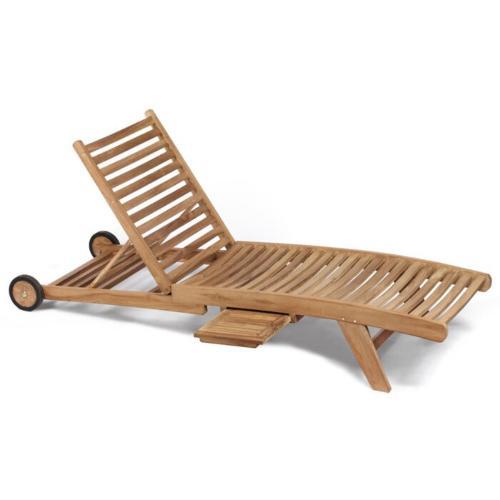 teak houten ligbed verstelbaar