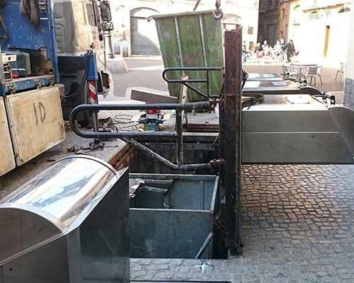 Mantenimiento de contenedores soterrados