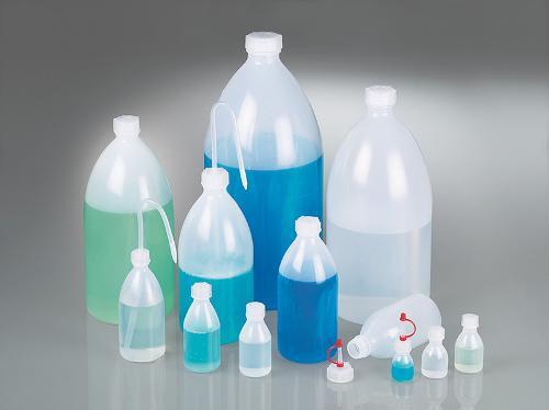 Botellas de cuello estrecho, redondas