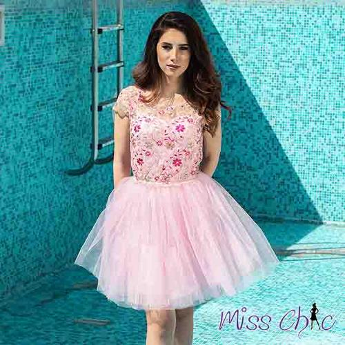 Pink dress | MISS CHIC