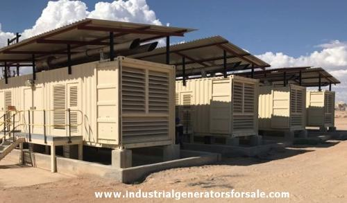 12000 KVA Perkins Containerized Diesel Generator Power Plant