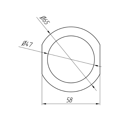 Aluminum Profile For Electrical Purposes Ат-1025
