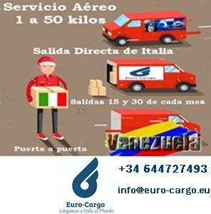 Transporte de Carga áerea hacia Venezuela