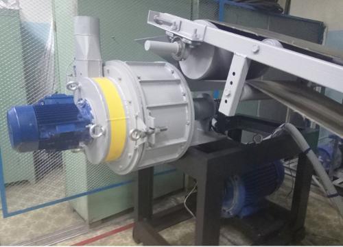 Hammer-impact rotor-vortex mill MMU-460