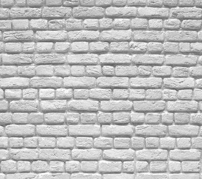 white brick panels