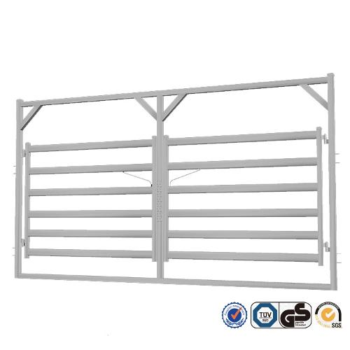 Cattle Rail Double Gate in Frame