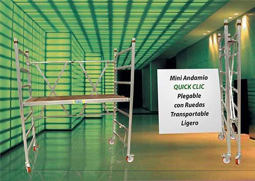 El andamio plegable Quick Clic, más ventajas, más seguridad
