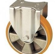 Roulettes fixes jante aluminium revêtement polyuréthane