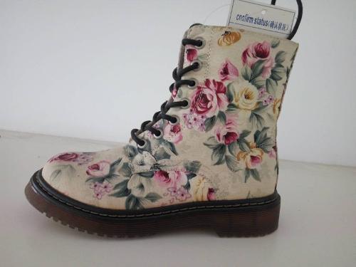 Women's print boots