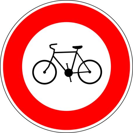 Panneau B9b Accès Interdit Aux Cycles
