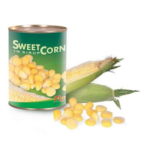 Canned sweet corn in syrup
