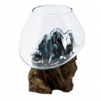 Vidrio Fundido Sobre Madera