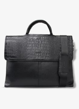 Guard Deri Evrak ve Laptop Çantası / 1803 - Siyah croco
