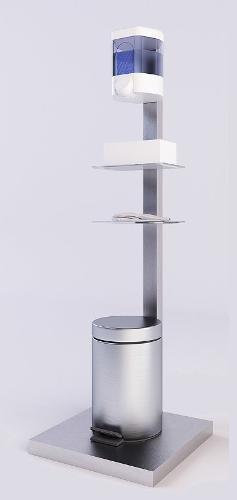 Piantana Porta Dispenser Robusta E Innovativa
