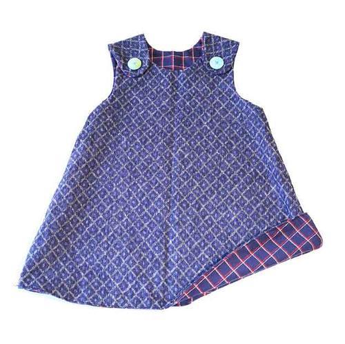 Vestitino per bambina reversibile