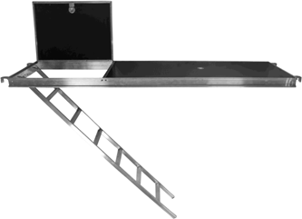 Plataforma de Aluminio con Escalera