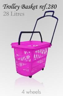 Trolley Basket - 28 Litres (4 wheels)