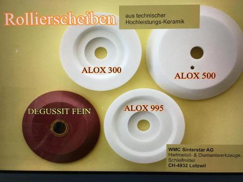 Ceramic roller discs